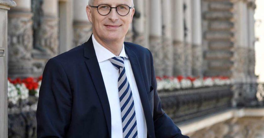 Erster Bürgermeister Dr. Peter Tschentscher übernimmt Schirmherrschaft für die Deutsche Muskelschwund-Hilfe e.V. © Senatskanzlei Hamburg / Roland Sawatzki
