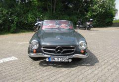 Mercedes Benz 190 SL gestohlener Mercedes 190 SL mit dem amtlichen Kennzeichen DN-X 190H