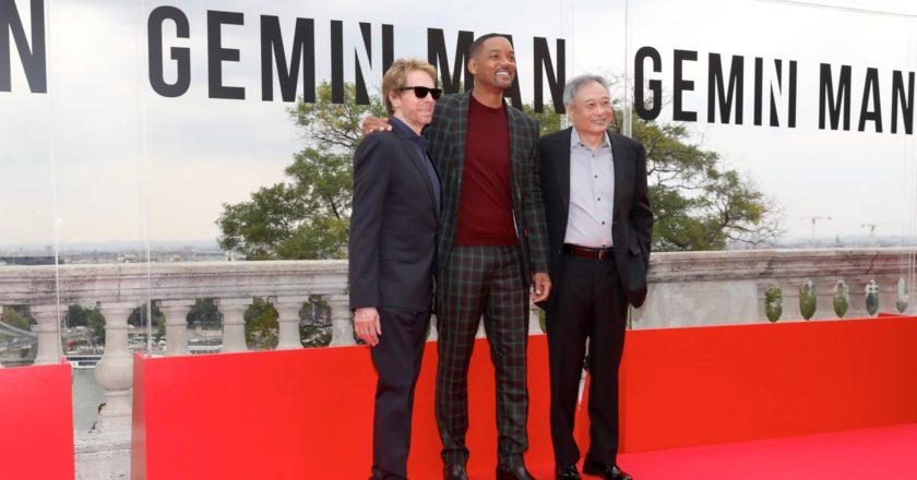 Jerry Bruckheimer, Will Smith und Ang Lee (v. l. n. r.) auf dem roten Teppich in Budapest