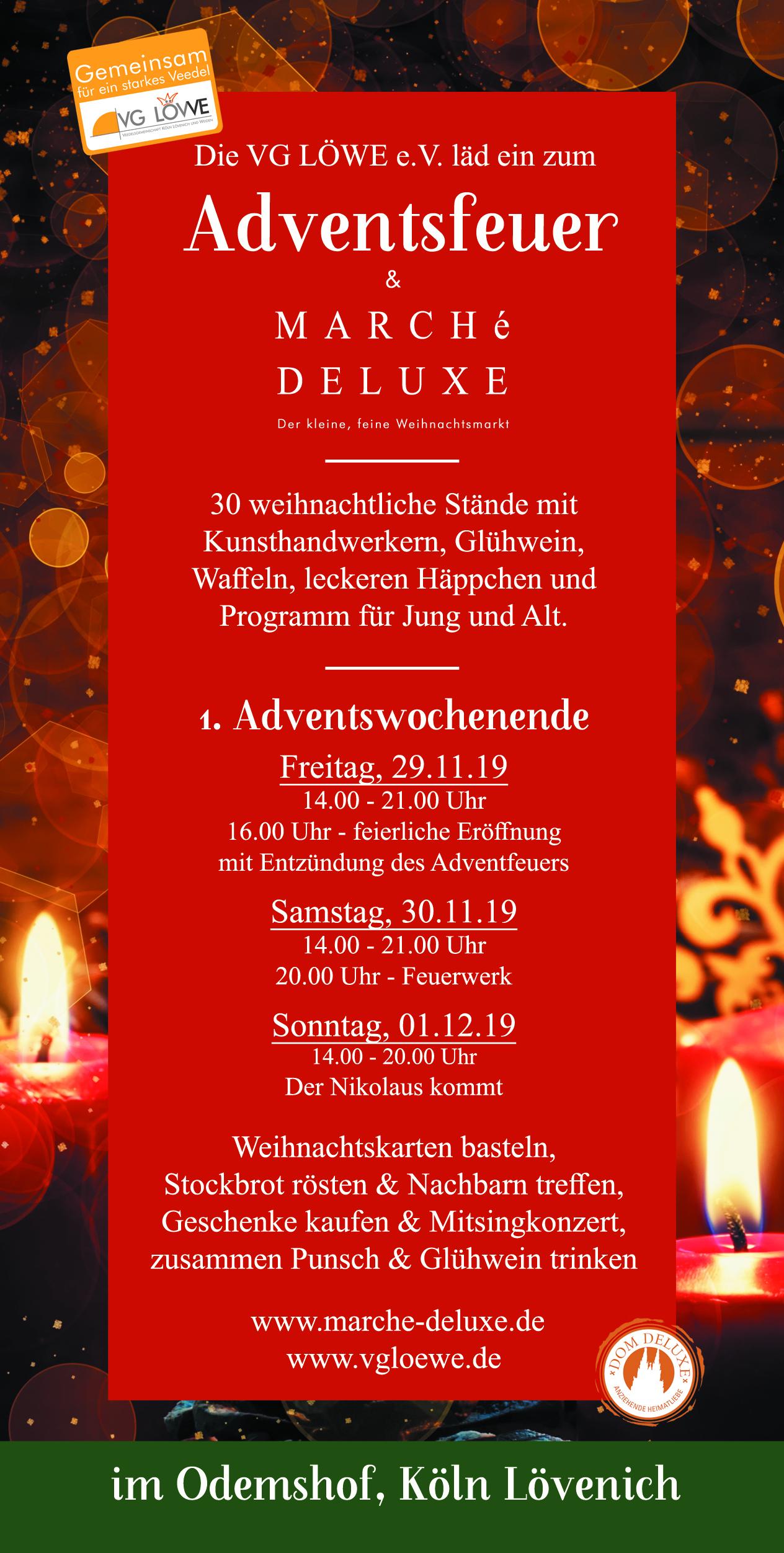 Marché Deluxe Weihnachtsmarkt köln, Weihnachtsmarkt Marché Deluxe & Adventsfeuer 2019, City-News.de, City-News.de