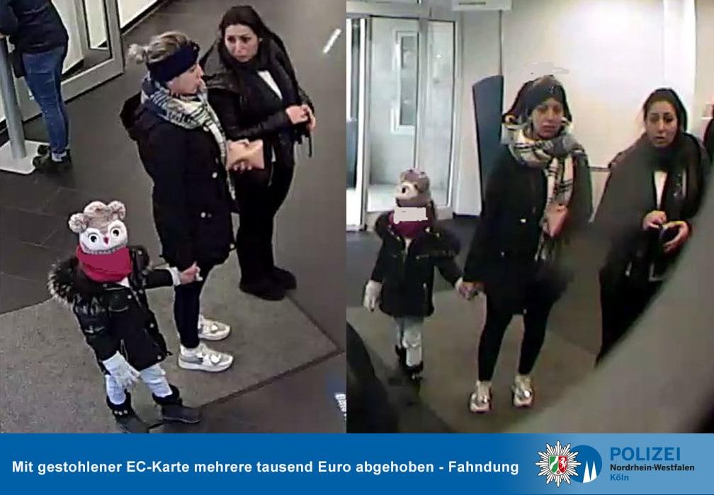 Öffentlichkeitsfahndung köln, Öffentlichkeitsfahndung – Mit gestohlener EC-Karte mehrere tausend Euro abgehoben, City-News.de