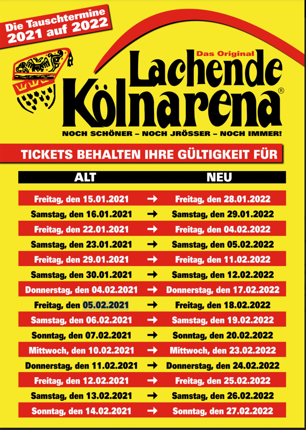Lachende Kölnarena 2021 Tickets