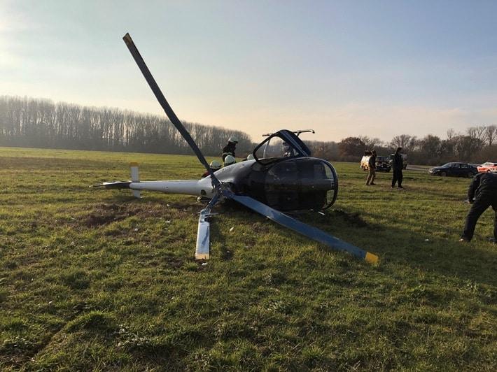 Hubschrauberabsturz, Hubschrauberabsturz auf dem Flugplatz in Speyer, City-News.de
