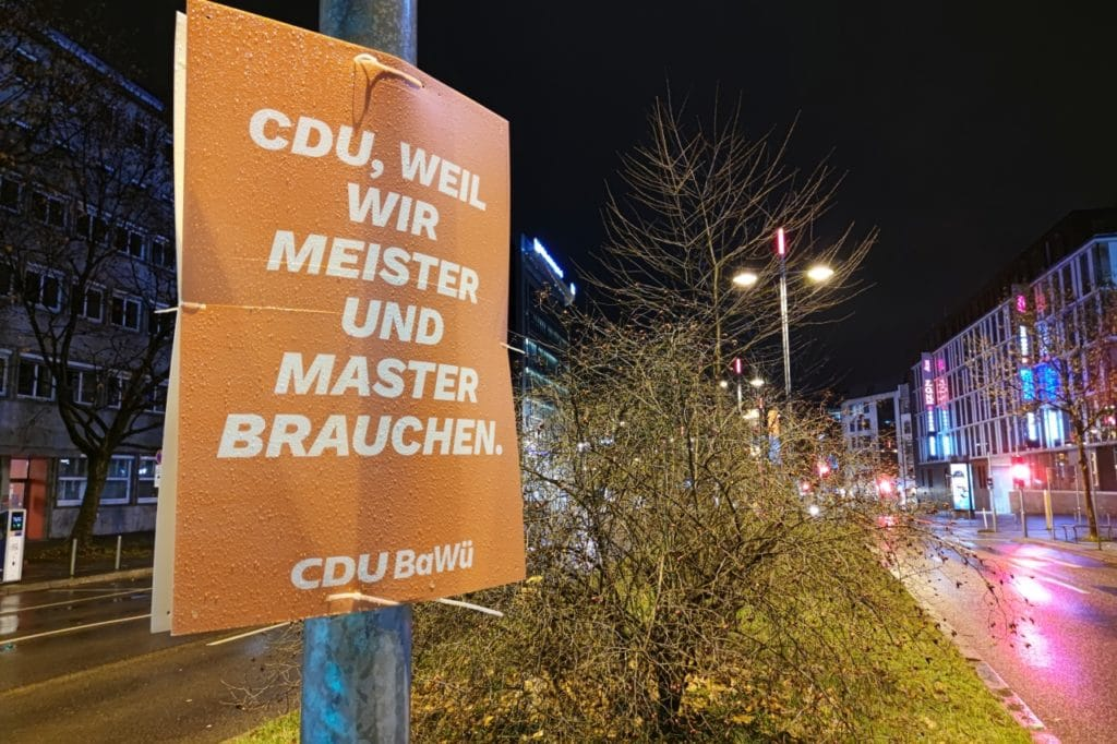 Politbarometer Baden Württemberg