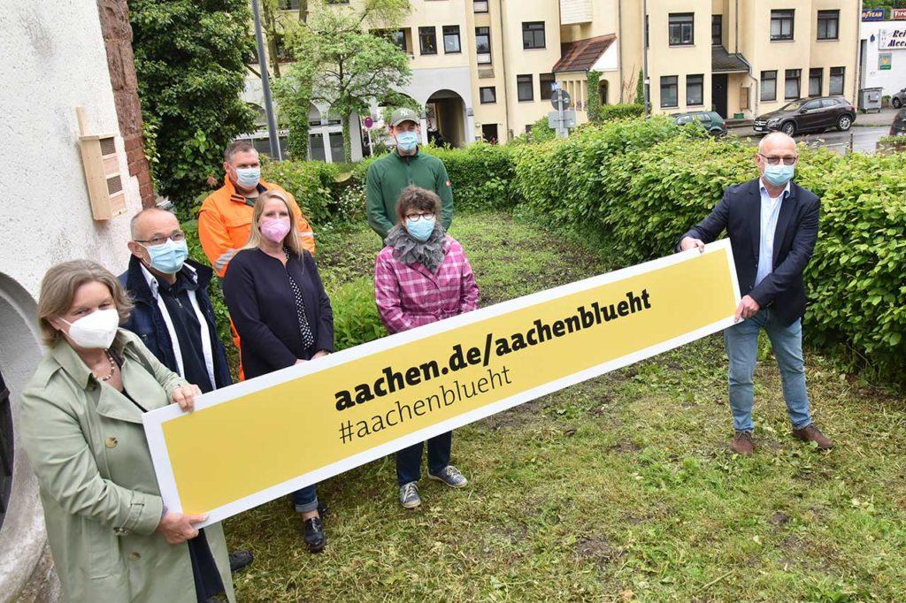 """AACHEN BLÜHT, """"Aachen blüht"""" auch am Laurensberger Bezirksamt, City-News.de"""