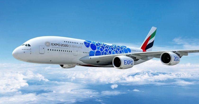 Emirates Flugzeug Expo Dubai 2020