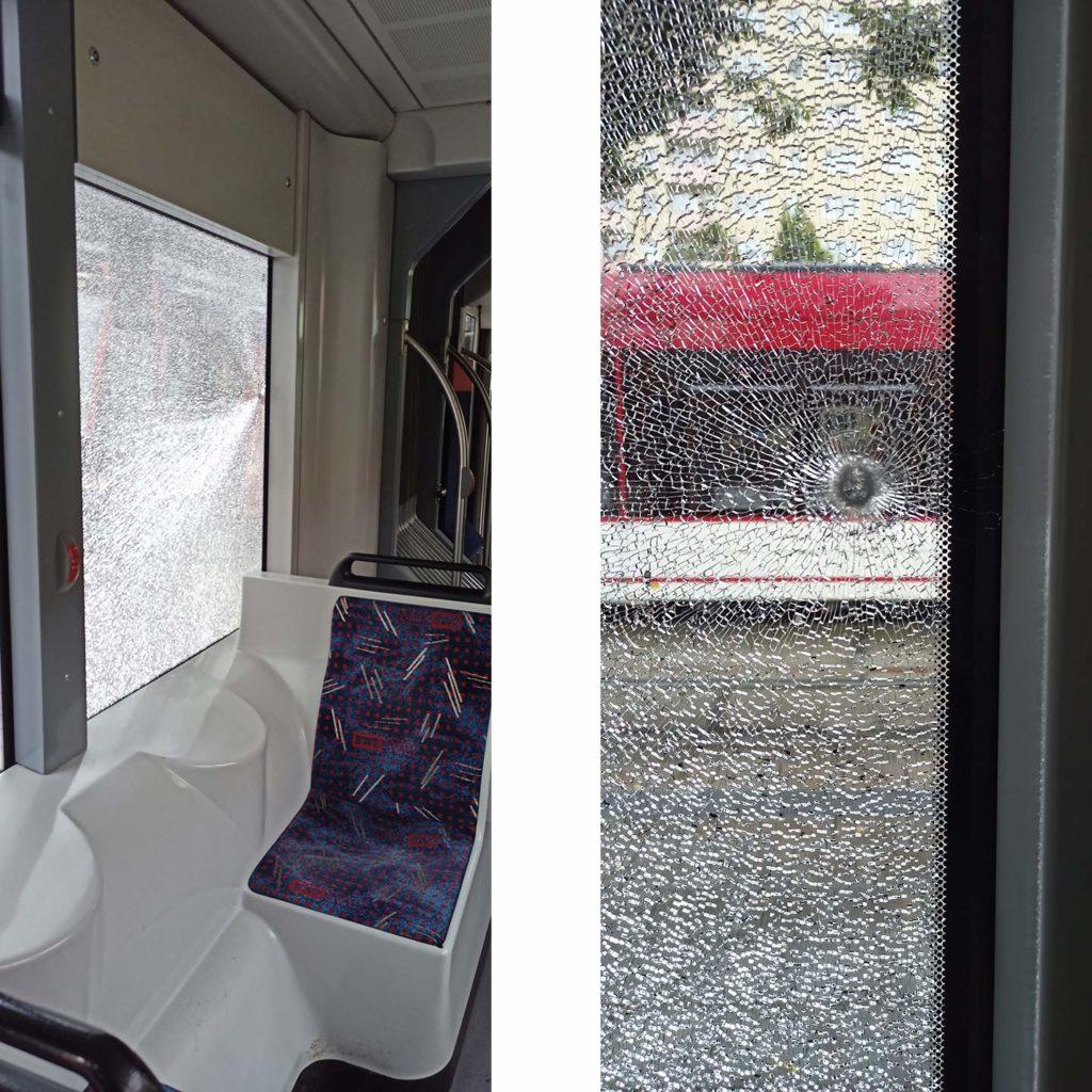 Angriff auf Bus Straßenbahn, Erneuter Angriff auf Bus und Straßenbahn, City-News.de